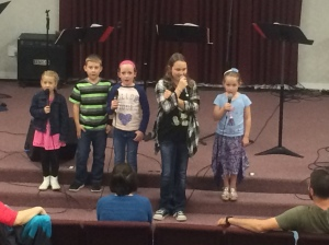 Children at Hymn Night